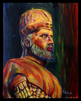 Portrait of  Constantine XI Palaiologos by Dairanhill