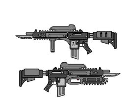 Zombie Rifle Gears of War by tat2tiger