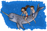 Narwhals by Zaphaire