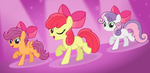 Cutie Mark Crusaders -Somepony to Watch Over Me- by Godoffury