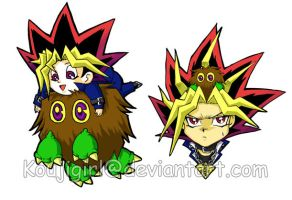 Spiky heads and Furballs by KoujiGirl