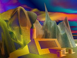 lonly mountain building by rockscorp