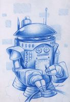 Blue Robot by bryancollins