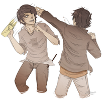 Padfoot and Prongs by Avender