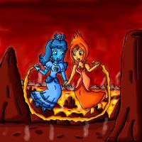daisy and flame princess by ninpeachlover