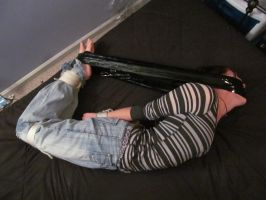 Sparky tape hogtied 10 by ForestWolfDragon