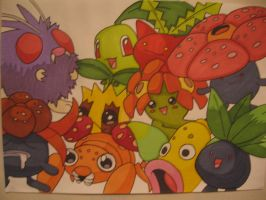 Grass Pokemon Collection - Pen by sazmullium