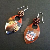 NFL Football Scalemaille Earrings by Rosie-Periannath