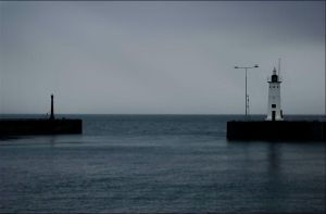 Anstruther Haven In Rain by tamaskatai
