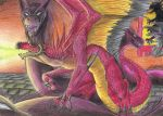 Battle with the demon by Kiminuria