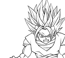 Super Saiyan 2 Gotan by darkhawk5
