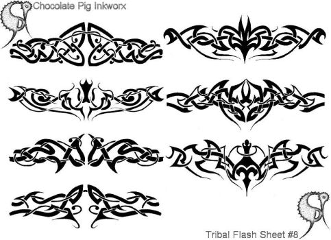 Tribal Flash Sheet No:-8 of 25 by TheChocolatePig