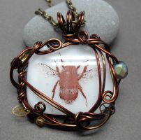 Clockwork Bumblebee Necklace by sojourncuriosities