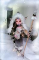 frost elf TeaNuk and baby Sasquatch (ooak MH) by NickiiRose
