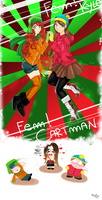 Kyle and Cartman female version by Martyna-Chan