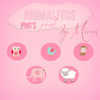 Animalitos Pink by craftingandmore
