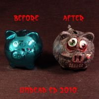 Rot Piggy Death Bank compare by Undead-Art