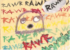 The Rawr Monster by kayebear