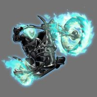 Blue Lantern Ghost Rider (Spirit of Vengence) by Lord-Lycan