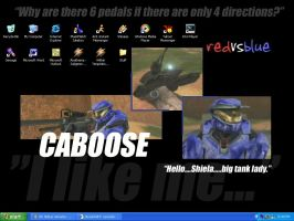 Red Vs. Blue - Caboose by ravenskies1119