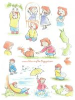 Amber Watercolour Designs by AmberDust