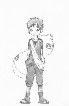 My second Fanart Gaara by LousCharacters