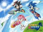 Sonic riders-shadow x amy x sonic by DreamingClover
