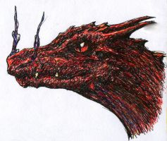 Dragon head red by TicChallis