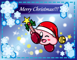 Merry Christmas from Kirby!! C: by SuperMarioFan888