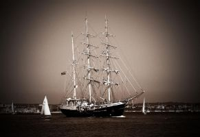 tall ship by awjay