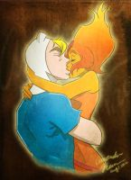 Finn and Flame Princess Kiss by Free-man12