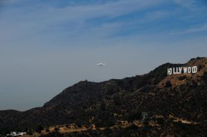 Shuttle Endeavor, T-38's, and Hollywood Sign 2 by AndySerrano