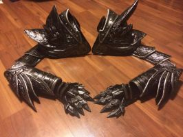 Daedric Armor: Arms 100% finished :D by Lost7Soul