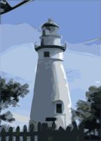 Colored Lighthouse by potatosalad
