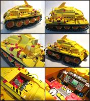 Yella Lego Tractor Number 3 by Frohickey