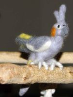 Needle Felted Cockatiel by The-GoblinQueen