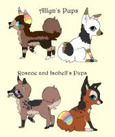 4 Pups to ~Kaes-Loveable-Adopts by MichelsAdoptions