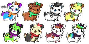 puppy adoptable batch OPEN by SpunkyAdopts