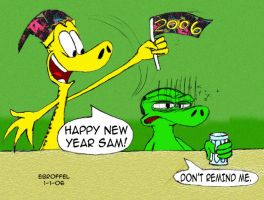A Ned and Sam New Year by Cartoon-Eric