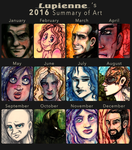 2016 Summary of Art by lupienne