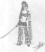 Warrior girl by jdm77