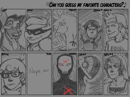 Nine Favorite Characters by dorkydeymx