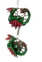Yule Dragon Decoration Commission by LittleDragonDesigns
