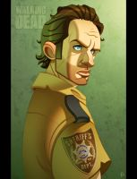 The Walking Dead: Rick by ubegovic