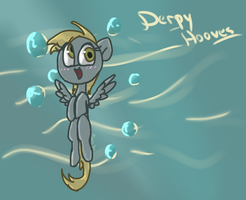 Derpy Hooves says hi by Maria-Ben