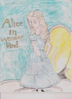 Alice in Wonderland poster... by WEChristineInTrainin