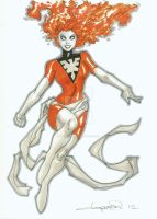 Stylized Dark Phoenix by aaronlopresti