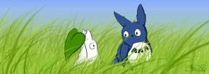Totoro's little friends by Wolfi-sama