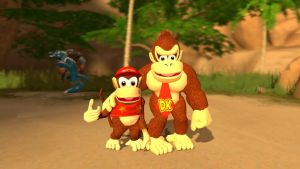 Donkey Kong and Diddy Kong by Xrayleader