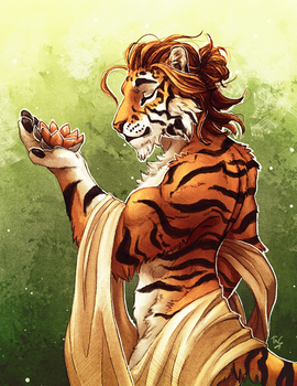 Gentle Tiger by TasDraws